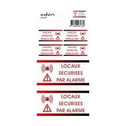 Waarschuwingssticker alarmsysteem - FRANS (BS185F)