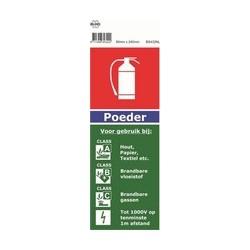 Aanduidingslabel poederblusser (BS432NL)