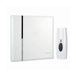 Draadloze witte deurbel 60m. (BY401W)