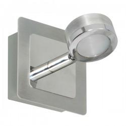 LED wandspot geborsteld chroom metaal glas (3000.068)