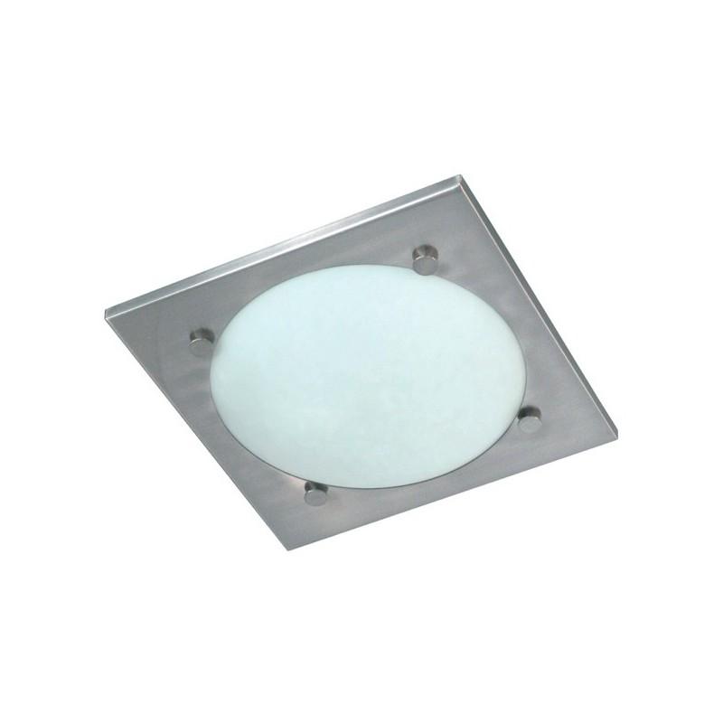Plafondlamp geborsteld staal glas Vado (3000.045)