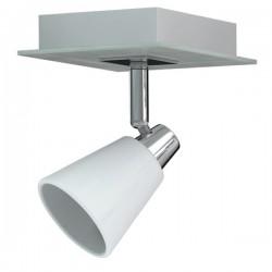 Enkele spot Miro chroom wit metaal glas (6000.467)
