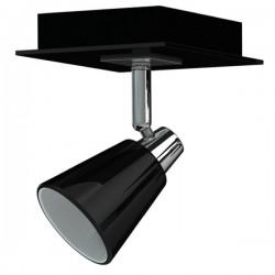 Enkele spot Miro chroom zwart metaal glas (6000.464)