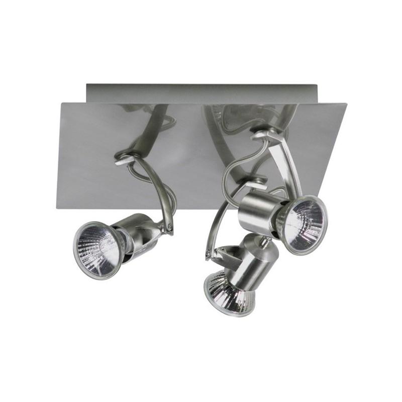 Spot 3 lampen op plaat geborsteld metaal (2606.017)