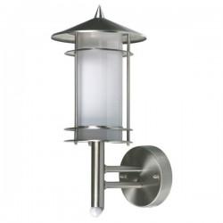 Wandlamp met bewegingsmelder geborsteld RVS kunststof (5000.287)
