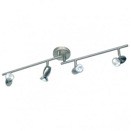 Spot 4 lampen op plaat geborsteld metaal (2603.004)