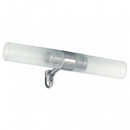 Spiegelklemlamp geborsteld staal glas Cosenza (3000.031) 10.056.10