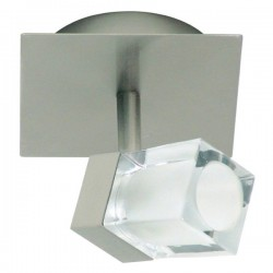 Enkele spot geborsteld metaal glas (2605.020)