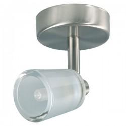 Enkele spot geborsteld metaal glas Malou (2607.001)