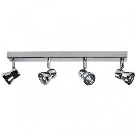 Spot 4 lampen op balk chroom metaal (2608.004)