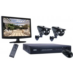 Smartwares HD 8 channel DVR beveiligingsset 720P DVR+2CAM+1TB+MONITOR (DVR728S)