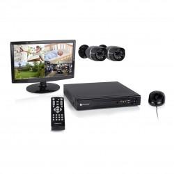 8-kanaals digitaal opname apparaat met harde schijf, 2 buitencamera's en 15,4 inch monitor (DVR528S)