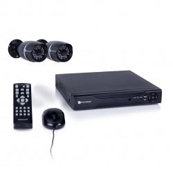 Beveiligingssysteem met DVR recorder en 2 buitencamera's (DVR524S)