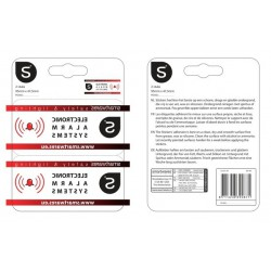 Waarschuwingssticker alarmsysteem (BS183)