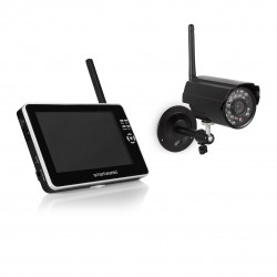 Smartwares Draadloze Bewakingscamera Set - VGA camera IP65 - 7 Inch monitor - CS87DVR