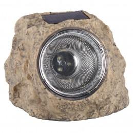 LED solar steen grijs kunststof (5000.154) 10.009.37